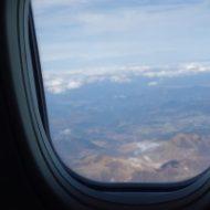 LCCの機内から見える外の光景