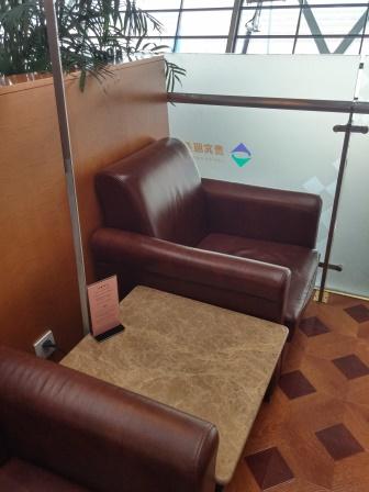 上海浦東国際空港第2ターミナルの69番VIPラウンジのソファ