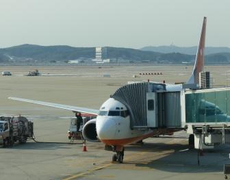 仁川空港に到着したチェジュ航空の機体