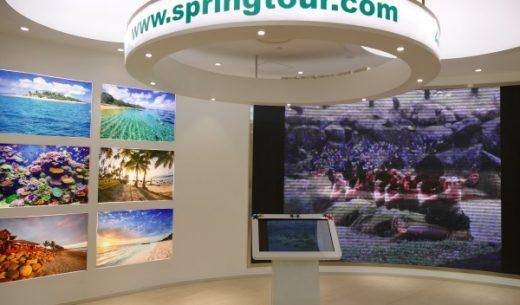上海春秋国際旅行社の本社の1階にある展示・イベントスペース