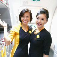 スクートTZ291便成田~バンコクの就航初便の客室乗務員