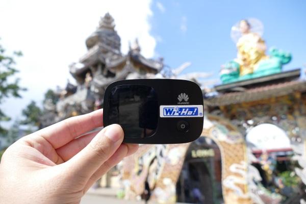 ベトナムの高原「ダラット」の霊福寺 (リン・フオック寺)でもバッチリ3G接続