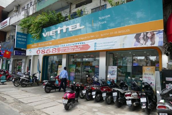 ホーチミン市内のヴィッテル(Viettel)の店舗