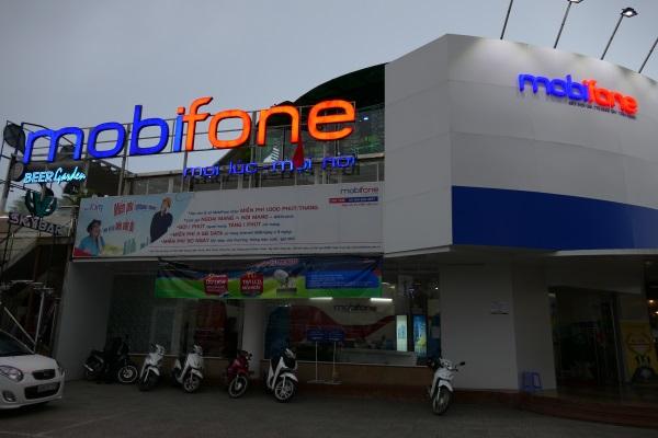 ダラットにあるモビフォン(mobifone)の店舗