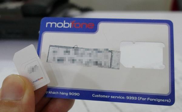 モビフォンのSIMカード