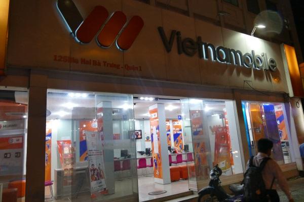 ホーチミン市内のベトナモバイル(Vietnamobile)の店舗