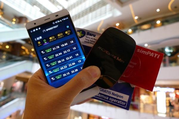 インドネシアの首都ジャカルタでプリペイドSIMによるLTEの通信速度テスト