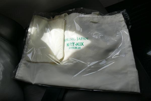 関西便の就航記念品