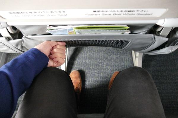 春秋航空日本のスタンダードシートの足元の空間