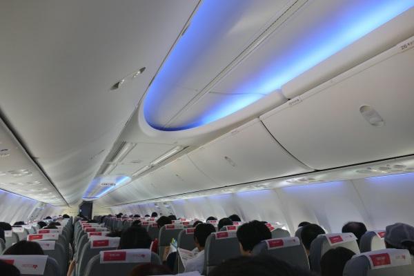 春秋航空日本のボーイングスカイインテリア仕様の機内