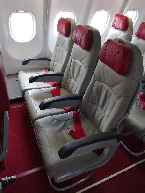 タイエアアジアXの座席