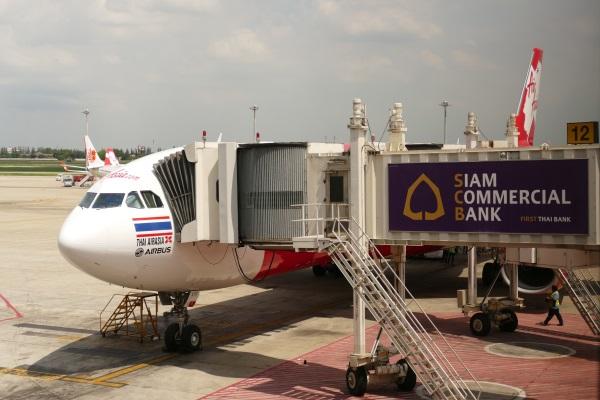 バンコク・ドンムアン空港に到着