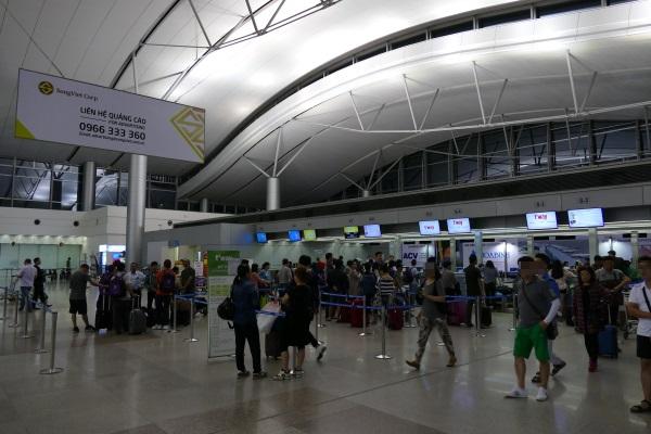 ベトナム・ホーチミンのタンソンニャット空港の国際線ターミナル