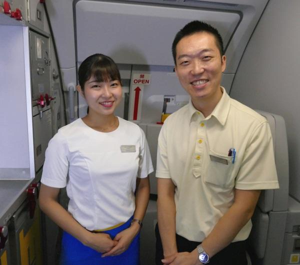 バニラエアJW102便の客室乗務員