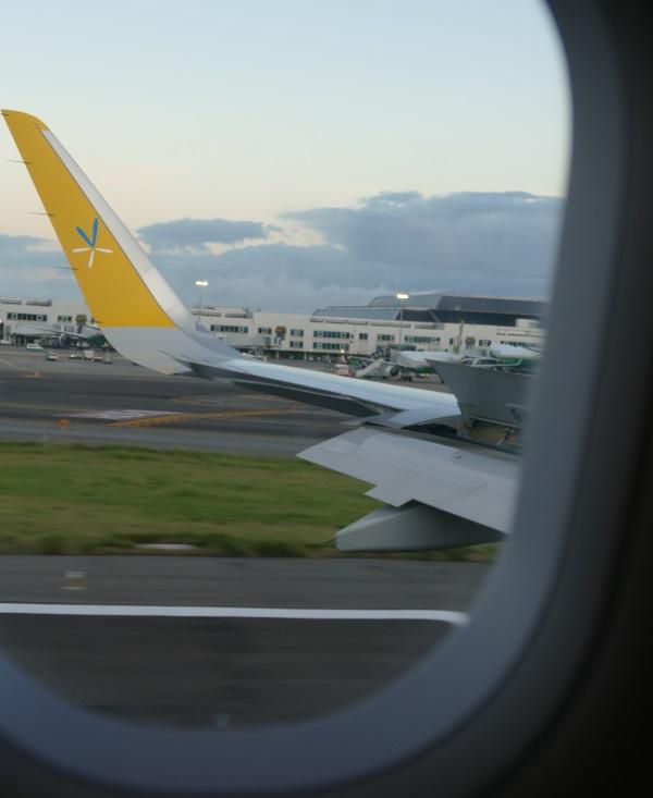 午前6時すぎ バニラエアJW102便が台北桃園空港に着陸