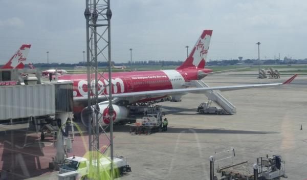 タイ・エアアジアXのエアバスA330-343Xに搭乗
