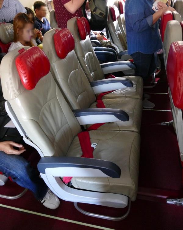 タイ・エアアジアXの座席