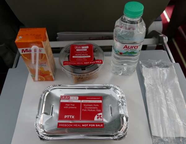 タイ・エアアジアXの機内食