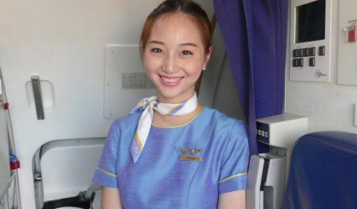 タイの航空会社「Kan Air」(カンエアー)の佐々木希に似ている客室乗務員