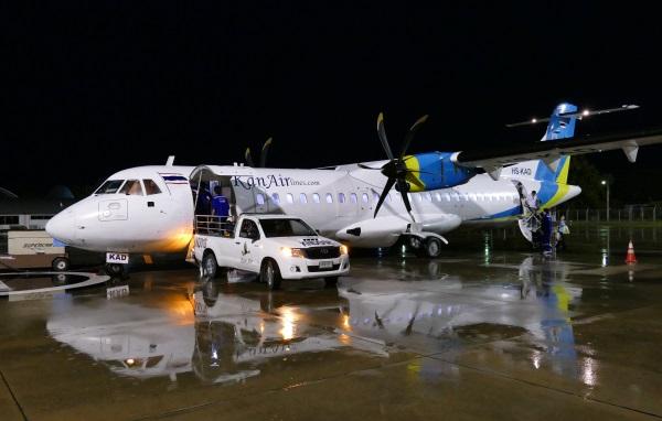 午後6時40分 カンエアー8427便がホアヒン空港に到着