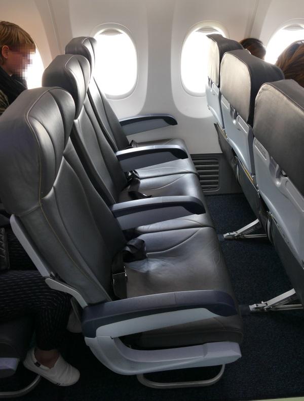 ノックエアB737-800型機のシート