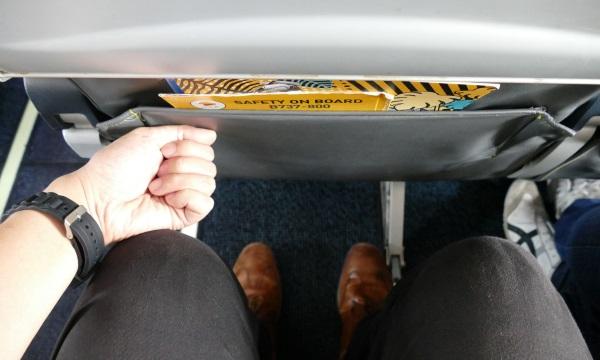 ノックエアB737-800型機のシートの足元空間