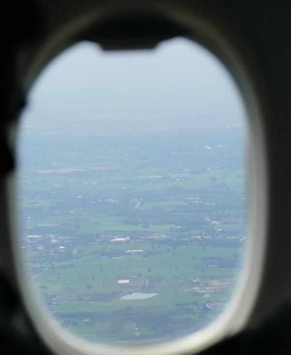 機体はチェンマイ上空へ