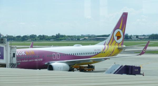 午後1時50分 DD8312便がチェンマイ国際空港に到着