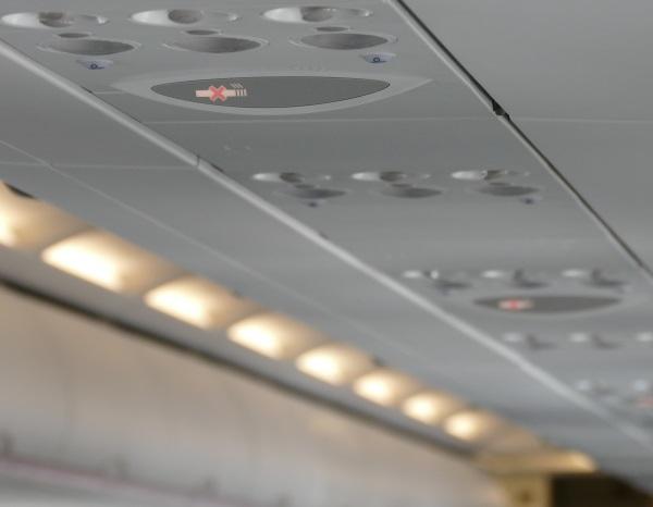 離陸から約8分後 シートベルトサインが消灯