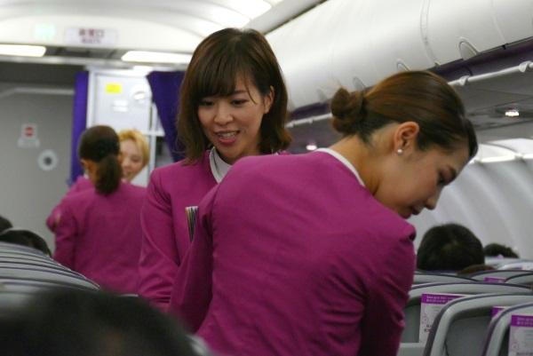 ピーチMM1079便の機内販売が開始