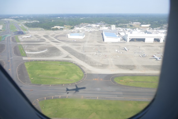 午後2時15分すぎ エアプサンBX111便釜山行きが成田空港を離陸