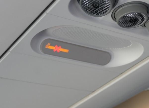離陸から約6分でシートベルトサインが消灯