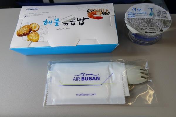エアプサンの成田~釜山線の機内食