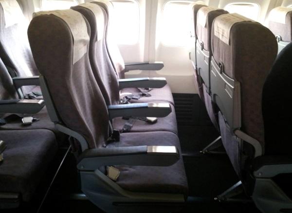 チェジュ航空の成田発釜山行き7C1153便の初便の座席