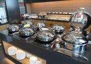 釜山の金海国際空港のプライオリティパス対応の「SKY HUB LOUNGE」の無料のブッフェコーナー
