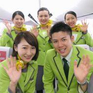 春秋航空日本Spring Japanの成田発天津行きIJ1031便の初便のクルー