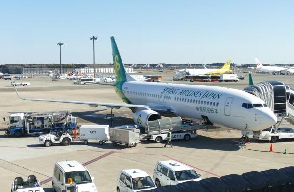 成田発天津行きの初便は1号機だった