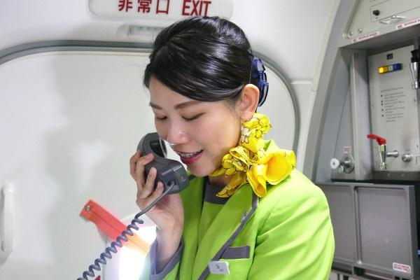 中国語が堪能な客室乗務員が常に機内アナウンスを通訳
