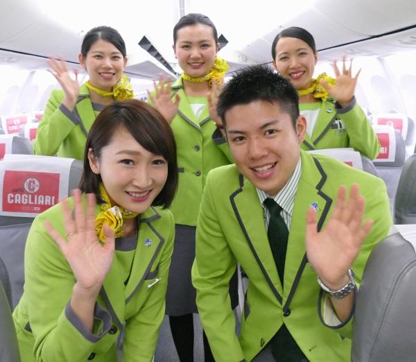IJ1031便天津行きの初便に乗務したクルーのみなさん