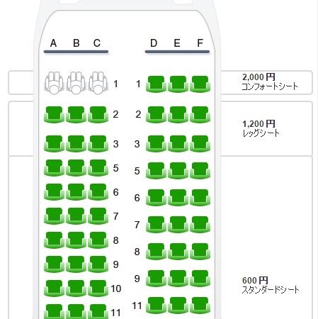 成田~天津線の座席指定の追加料金