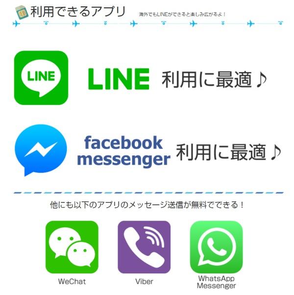 「海外ローミング放題SIM」はLINEやMessengerのテキストが使い放題
