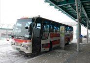 函館空港から函館駅に向かうリムジンバス