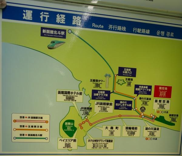 函館空港からのバスの主要路線