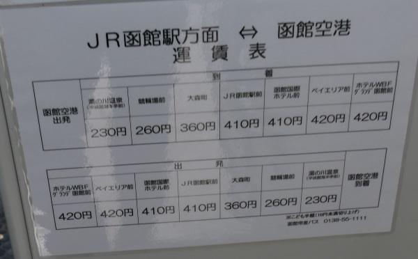 空港連絡バスの料金