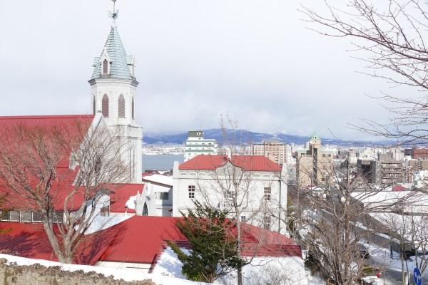 元町エリアのカトリック本町教会周辺