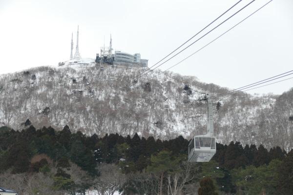 函館山ロープウェイで山頂へ