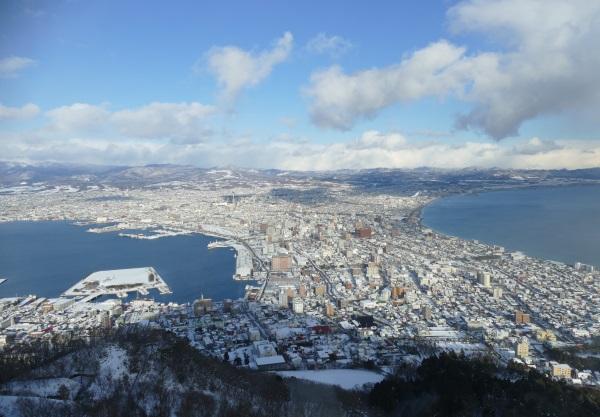 函館の街が一望できる