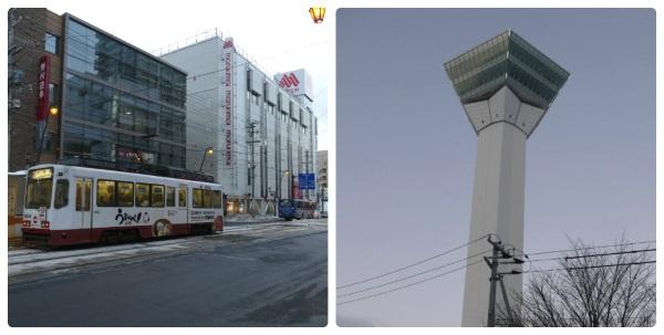 函館の繁華街・五稜郭にある五稜郭タワー
