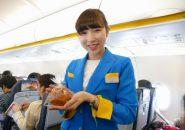 バニラエアの成田~函館線の初便に乗務したFA(フライトアテンダント)の笑顔