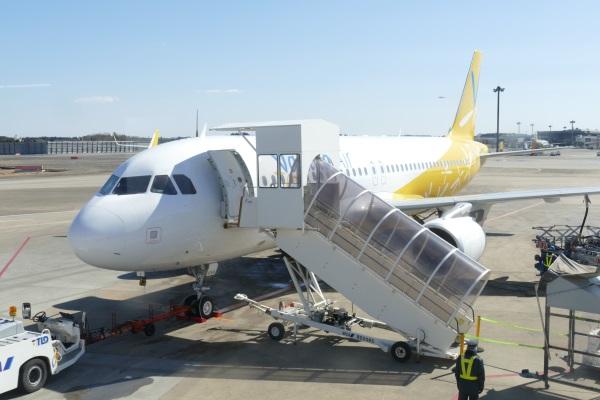 バニラエアの函館行きIW953便初便の使用機材は10号機だった(JA10VA)